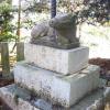 森・白鬚神社の牛の石造物