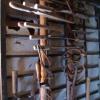 亀竹家鍛冶小屋内の鍛冶道具